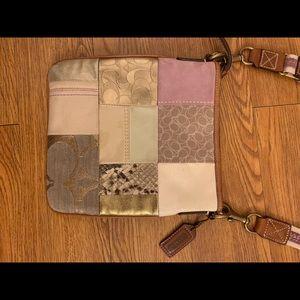 Authentic Coach patchwork crossbody bag
